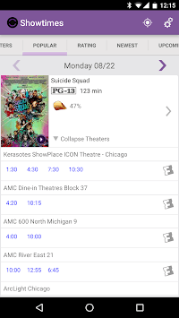 Showtimes (Local Movie Times and Tickets) APK screenshot 1