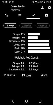 Dumbbell Home Workout APK screenshot 1