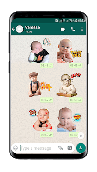 Cute Baby Stickers (WAStickersApps) APK screenshot 1