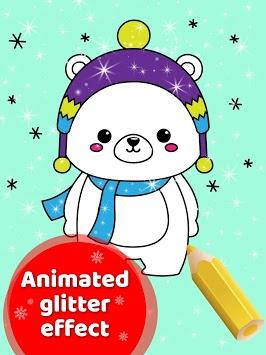 Animated Christmas Coloring Book APK screenshot 1
