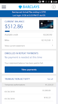 Barclays US for Android APK screenshot 1