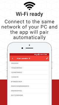 Barcode to PC: Wi-Fi scanner APK screenshot 1
