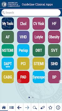 ACC Guideline Clinical App APK screenshot 1