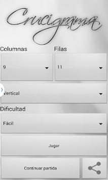 Crosswords spanish APK screenshot 1