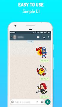 Superhero Stickers for WhatsApp - WAStickerApps APK screenshot 1