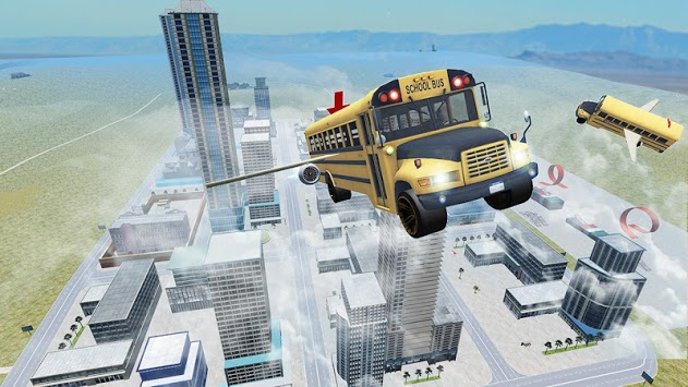 Flying Bus Driving simulator 2019: Free Bus Games APK screenshot 1