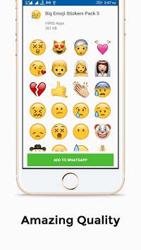 Big Emoji Stickers For Whatsapp APK screenshot 1