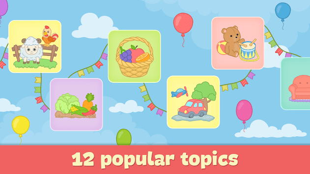 Baby flash cards for toddlers APK screenshot 1