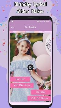 Birthday Lyrical Video Maker APK screenshot 1