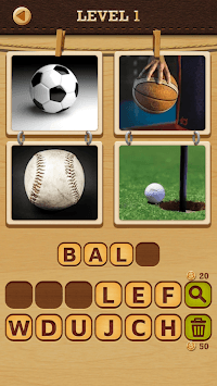 4 Pics Puzzle: Guess 1 Word APK screenshot 1