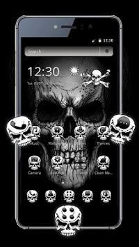 Black Death Skull Theme APK screenshot 1