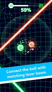 Balls VS Lasers: A Reflex Game APK screenshot 1