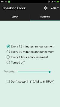 সময় বলা ঘড়ি Bangla Talking Clock (Ad free) APK screenshot 1