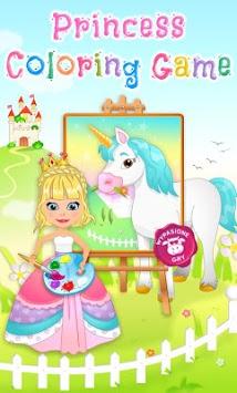 Princess Coloring Game APK screenshot 1