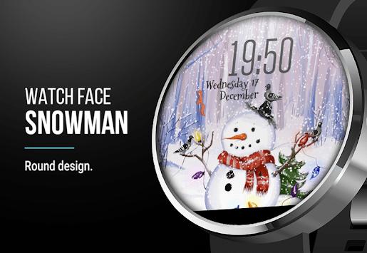 Snowman ⛄ Free Watch Face APK screenshot 1