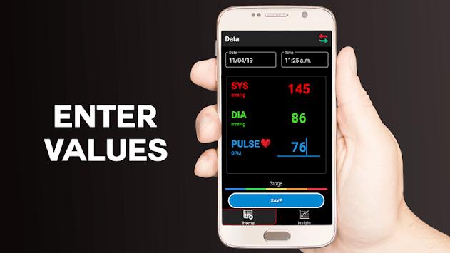 Blood Pressure Logger : Scan Tracker, Checker Test APK screenshot 1