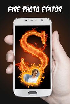 Fire Text Photo Frame Editor APK screenshot 1