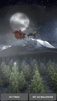 Santa 3D Live Wallpaper APK screenshot 1