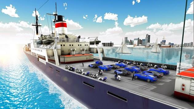 US Police Car Transport Cruise Ship Simulator 2018 APK screenshot 1