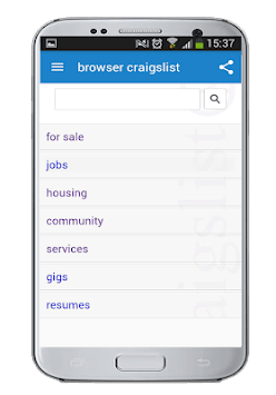 browser for craigslist  jobs,classifinds,sirvices APK screenshot 1