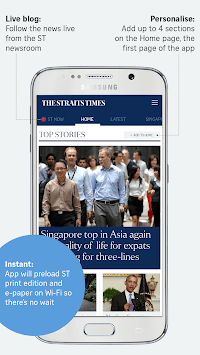 The Straits Times for Smartphone APK screenshot 1