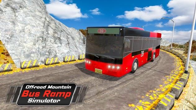 Off-road Mountain Bus Ramp Simulator APK screenshot 1