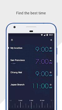 GLOBE: World clock and time zone converter APK screenshot 1
