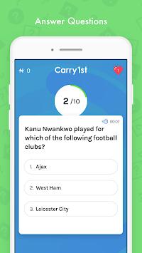 Carry1st: Live Trivia Game APK screenshot 1