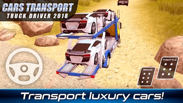 Cars Transport Truck Driver 2018 APK screenshot 1