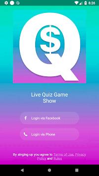 Cash Quiz Live APK screenshot 1