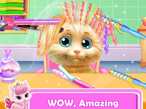 Pet Kitty Hair Salon Hairstyle Makeover APK screenshot 1