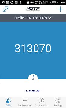 MOTP Client APK screenshot 1