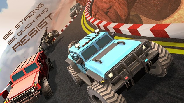 Truck League Monster Race - 3D Dirt Track Racing APK screenshot 1