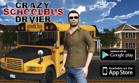 Crazy School Bus Driver 3D APK screenshot 1