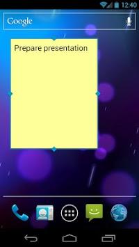 Simple Sticky Note Widget APK screenshot 1