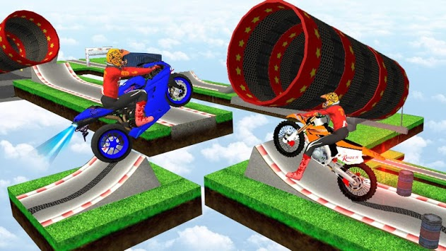 Motorcycle Stunts Game:Sky Runner Bike Stunts APK screenshot 1