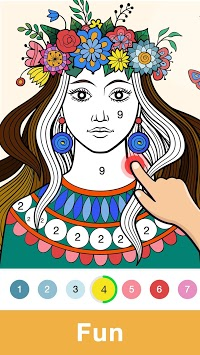 Fun Coloring - Color By Number Paint Happy & Relax APK screenshot 1