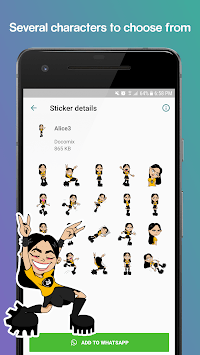 Characters Stickers - WAStickerApps Stickers APK screenshot 1