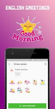 WAStickerApps - Greetings (Multi Language) APK screenshot 1