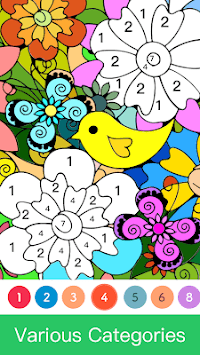Paint.ly Color by Number - Fun Coloring Art Book🌺 APK screenshot 1