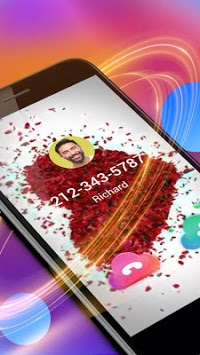 Rose Love Caller Screen APK screenshot 1