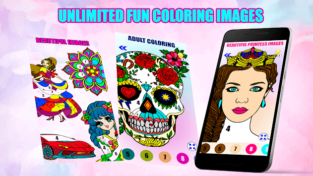 Adult Color By Number-Paint By Number Book Free APK screenshot 1