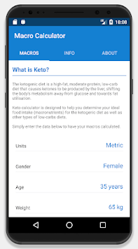 Keto Calculator - Low-Carb Macro Calculator APK screenshot 1