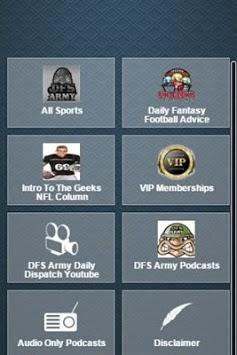 Daily Fantasy Football Advice APK screenshot 1