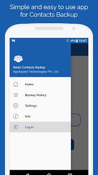 Smart Contacts Backup - (My Contacts Backup) APK screenshot 1