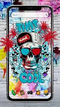 Cool Skull Graffiti Theme APK screenshot 1