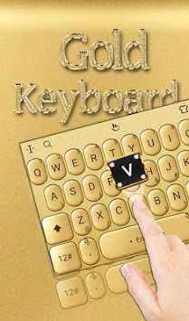 3D Gold Keyboard Theme APK screenshot 1