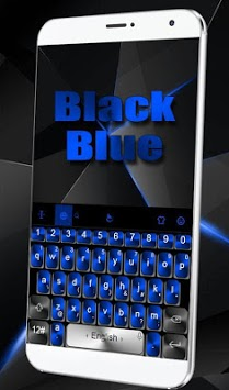 Black Blue Keyboard Theme APK screenshot 1