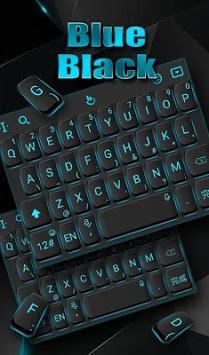 Blue Light Black Keyboard Theme APK screenshot 1