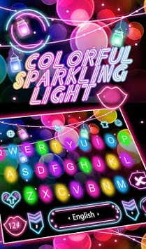 Colorful Sparkling Light Keyboard Theme APK screenshot 1